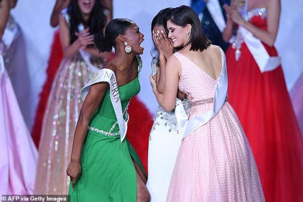 رد فعل غير متوقع من ملكة جمال نيجيريا عند فوز منافستها
