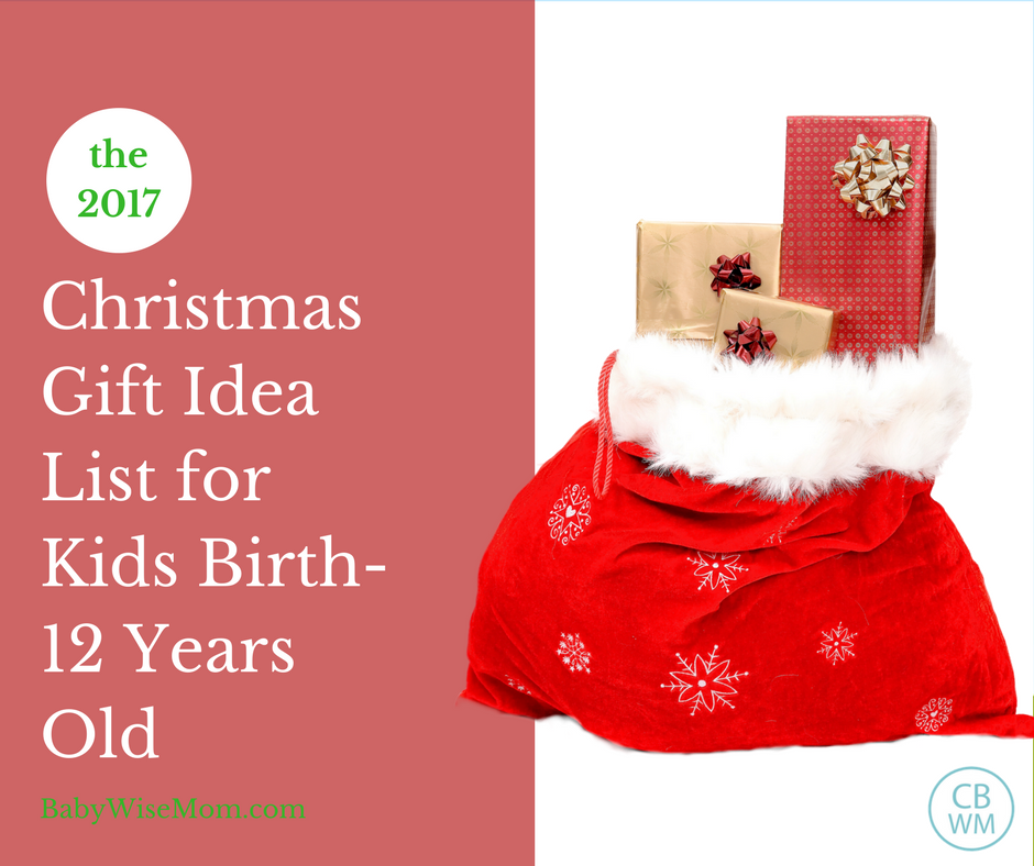 Christmas Gift Guide Ages Birth-12 Years Old. Perfect Christmas gift ideas for your children from your baby on through your preteen.