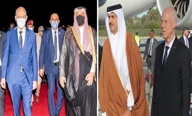 رئيس الجمهوريّة يصل إلى قطر وكان في استقباله نائب وزير أول ... مع العلم أن قيس سعيد أستقبل امير قطر بنفسه في تونس!!
