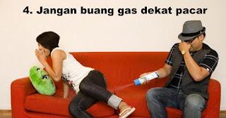 Jangan buang gas dekat pacar