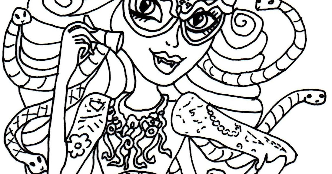 Free Printable Monster High Coloring Pages: Viperine