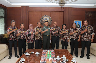 Laporkan Kepengurusan yang Baru, KB FKPPI Provinsi Bali Silaturahmi ke Kodam IX/Udayana