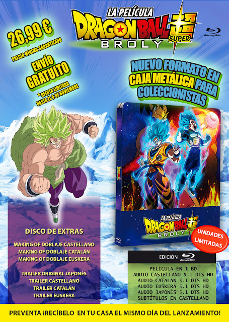 Edición Metálica de Dragon Ball Super: Broly.