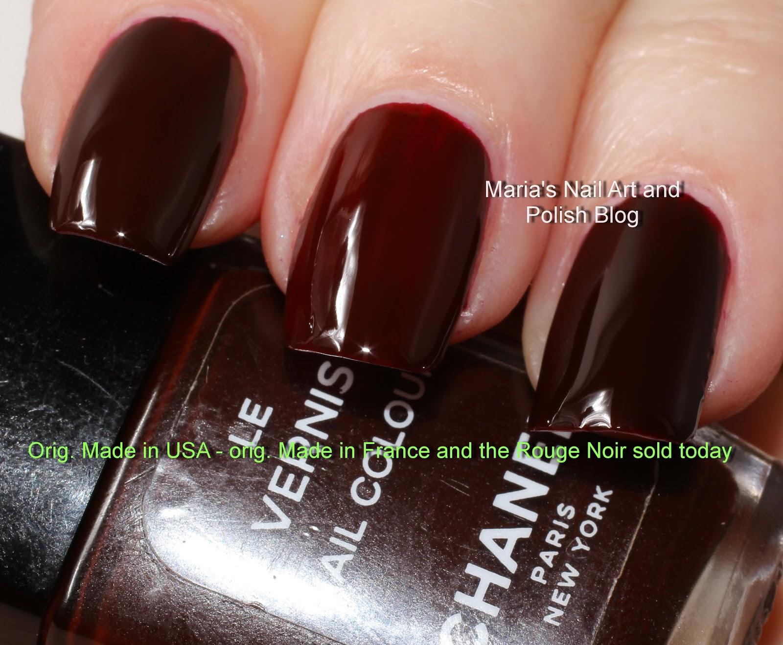 marias nail art and polish blog chanel rouge noir 18 vamp 18 5 x 18 the vamp triology. Black Bedroom Furniture Sets. Home Design Ideas