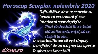 Horoscop Scorpion noiembrie 2020
