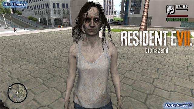 GTA-SA-Modificaciones: Skin Amelia Resident Evil Outbreak