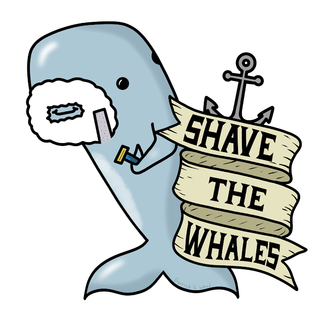 shave the whales whale save joke funny beard