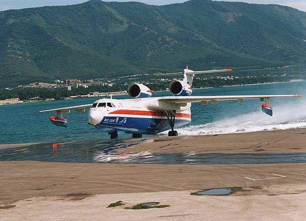 Russian water dropping plane Be-200 crashes in Turkey during a firefighting mission, 8 dead