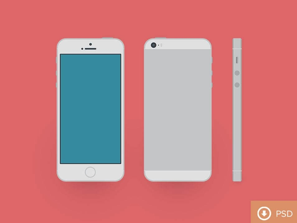 iPhone 5s PSD Template