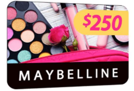 Get a $250 Maybelline Gift Card ( United States )