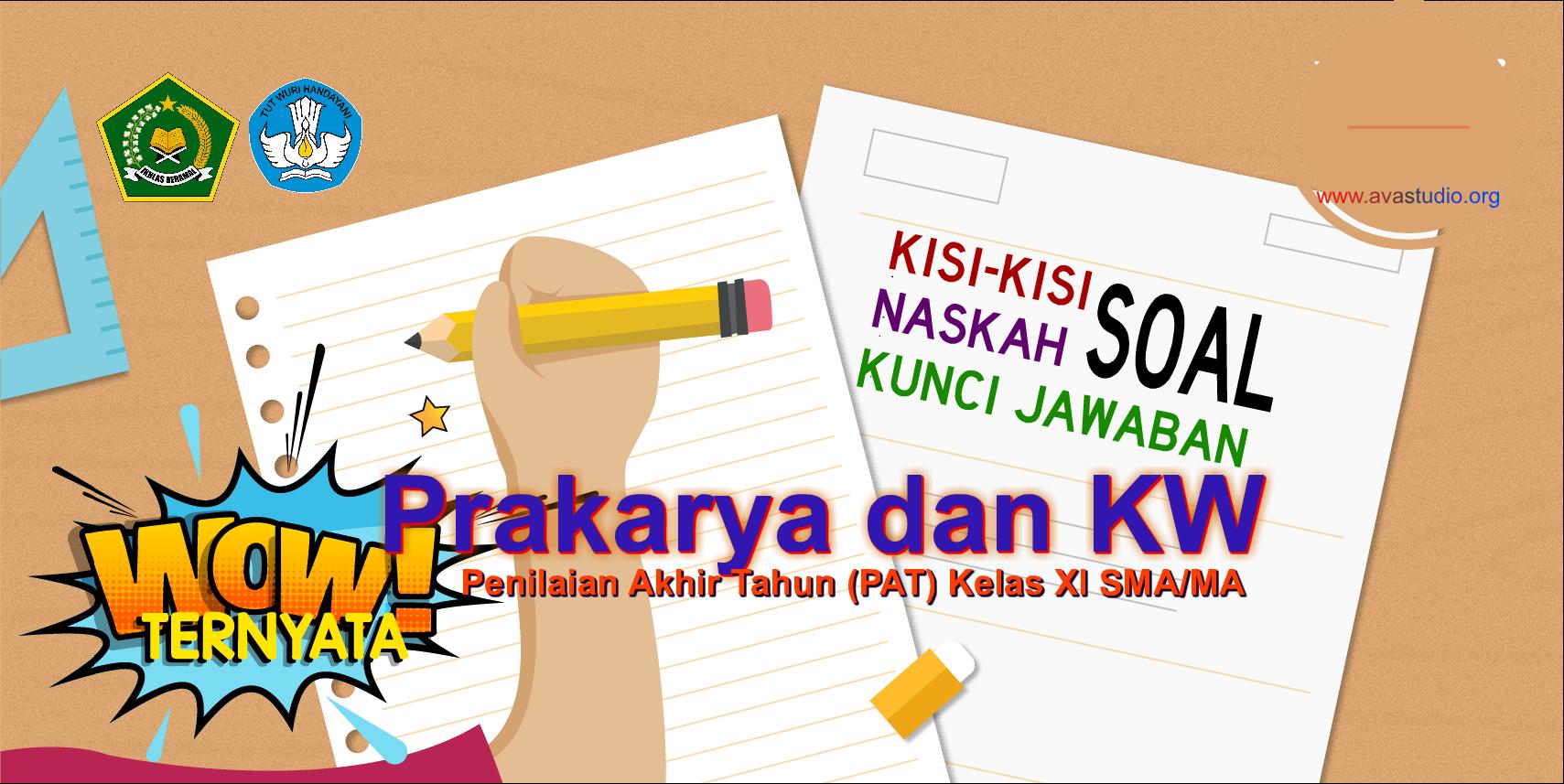 Kisi-Kisi, Naskah Soal dan Kunci PAT Prakarya dan Kewirausahaan Kelas XI SMA/MA Kurikulum 2013