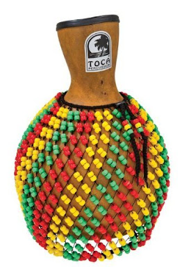Shekere  **West Africa**  This is a percussion instrument used for folkloric traditions and used in modern African and Latin music.