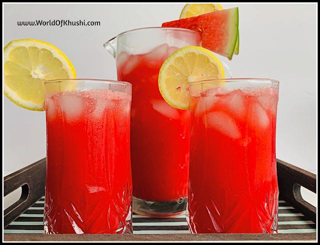 Watermelon Lemonade Recipe | World Of Khushi