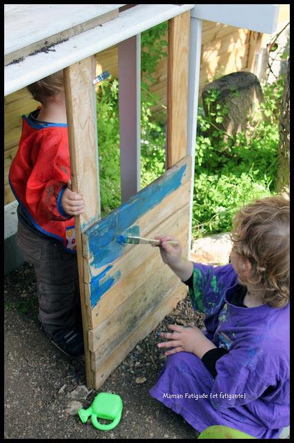 peinture sur cabane