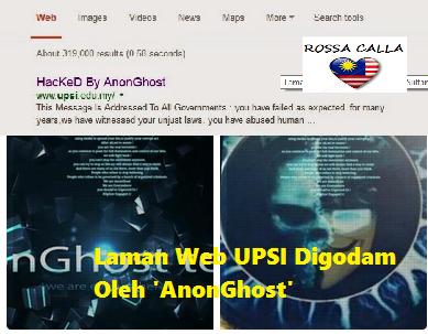Laman Web UPSI Digodam Oleh 'AnonGhost'