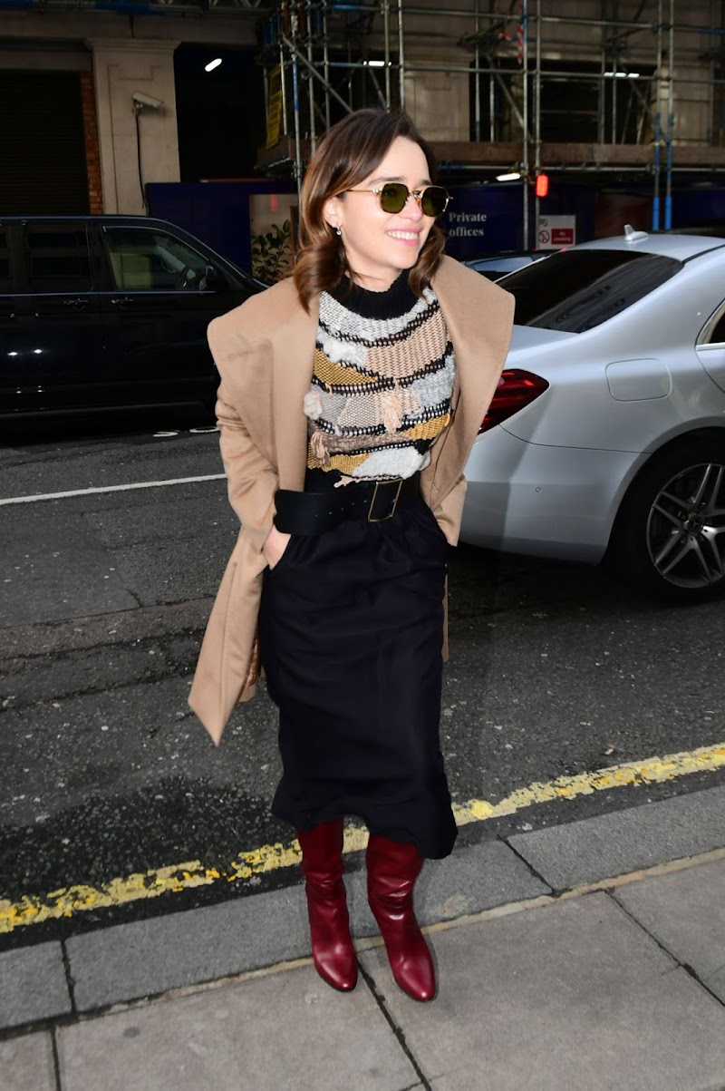 Emilia Clarke Arrives at BBC Radio 2 in London 3 Mar -2020