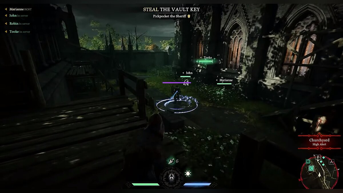 How to defeat the Sheriff and the Knight with a purple health bar