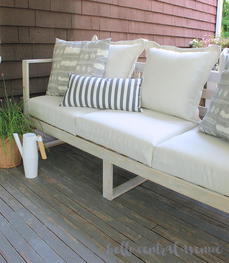 Modern wood DIY outdoor sofa