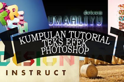 20 Tutorial Photoshop Teks Efek Untuk Pemula Yang Menginspirasi
