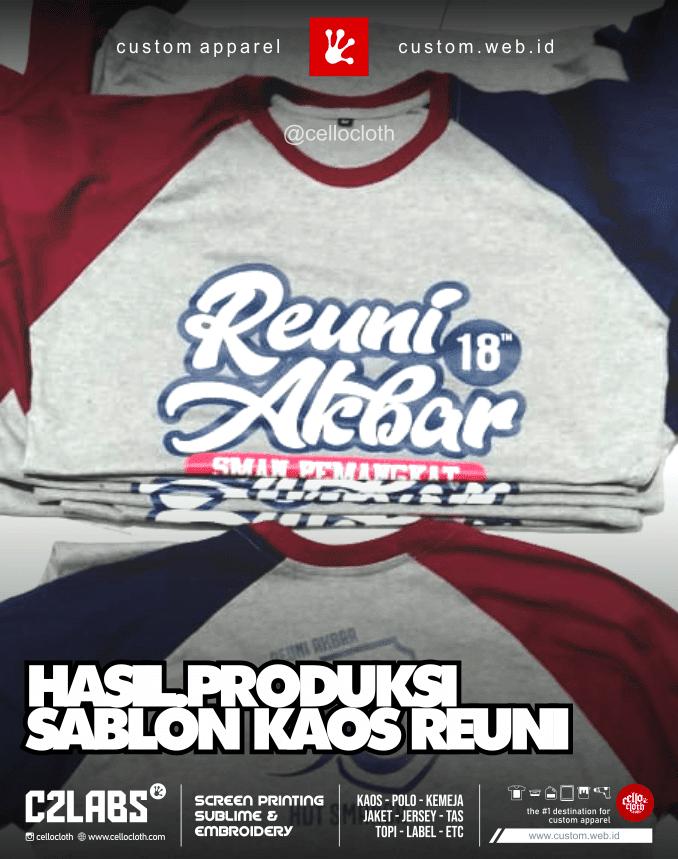Hasil Produksi Sablon Kaos Reuni SMA Pemangkat - Sablon Kaos Reuni Online
