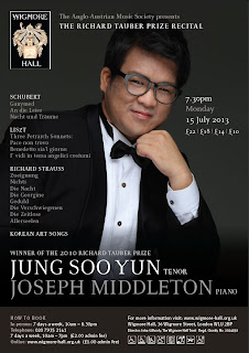 Jung Soo Yun, Joseph Middleton - Wigmore Hall concert flyer