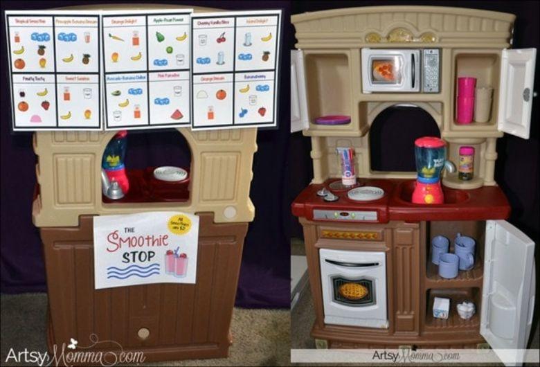 indoor activities for kids -  cafe pretend play