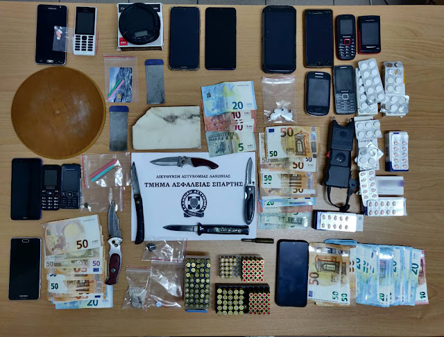 Αστυνομική επιχείρησης στη Λακωνία -Συνελήφθησαν 8 άτομα μέλη εγκληματικού δικτύου