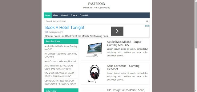 Fasteroid Fast Loading, Minimalist, Seo, and Responsive Blogger ...