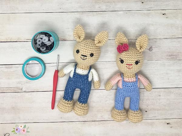 Mini Crochet Berry Patch Bunnies - Part 1