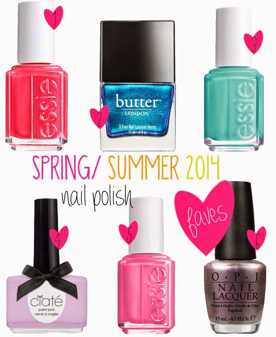 SPRING/ SUMMER 2014 NAIL POLISH FAVES