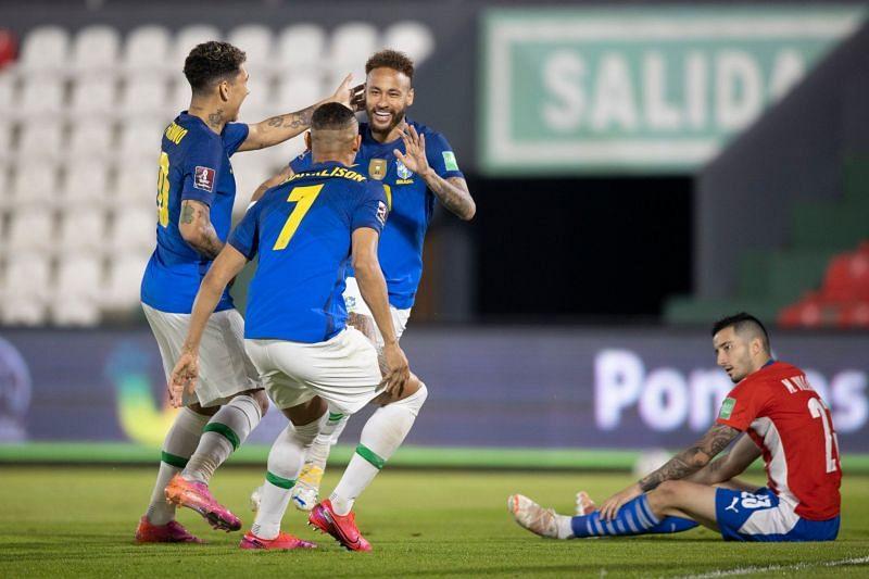نيمار يقود البرازيل للفوز السادس على التوالي تصفيات كأس العالم 2022