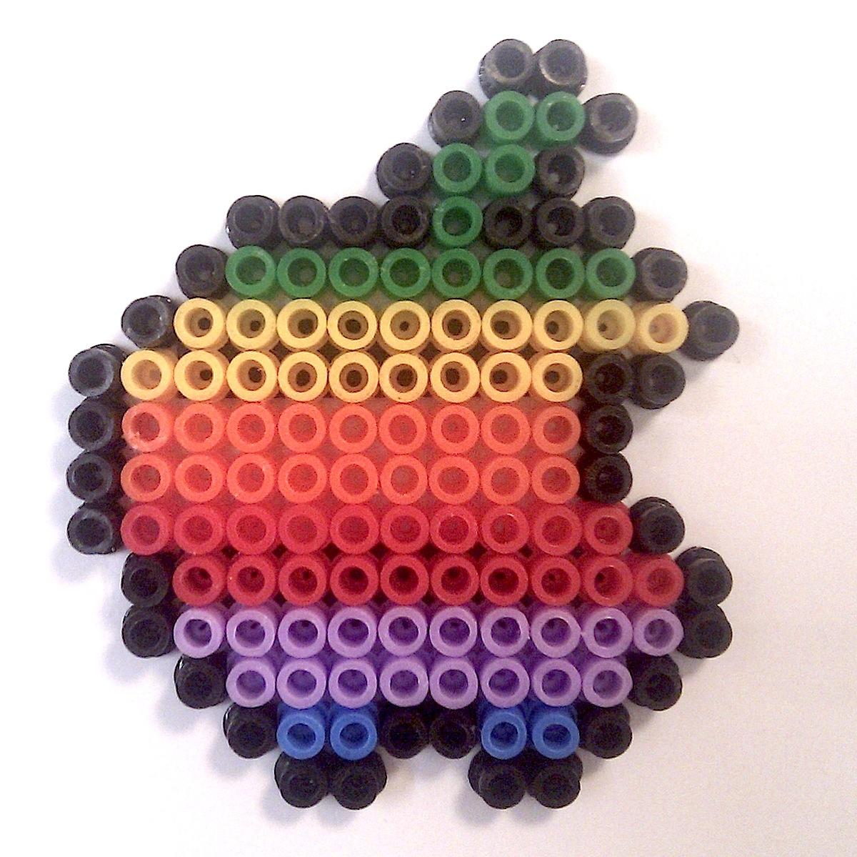 EcoCreo: Apple Hama Beads / Ikea Pyssla