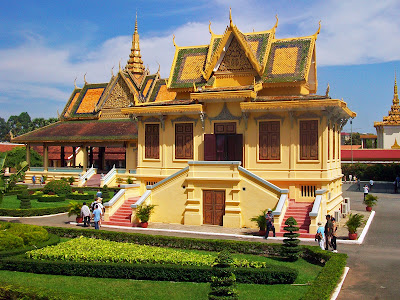 Gardens of the Royal Palace in Phnom Penh - Cambodia