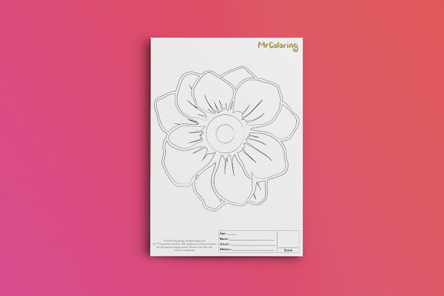 Free Printable Flower Coloriage Outline Blank Coloring Page pdf For Girls Kids Kindergarten Preschool Toddler coloring sheets