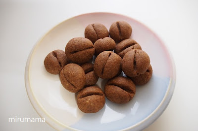 コーヒー型のクッキー