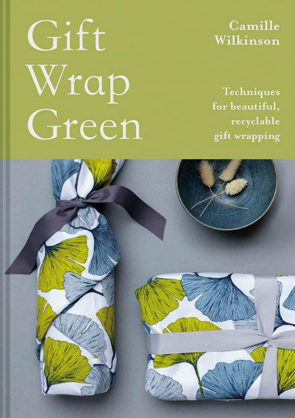 Gift Wrap Green book cover features two presents wrapped in patterned fabric or paper and tied with ribbon