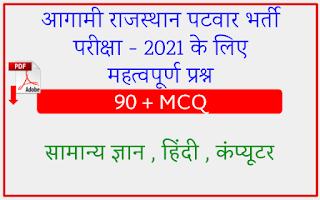 Rajasthan Patwar Exam 2021