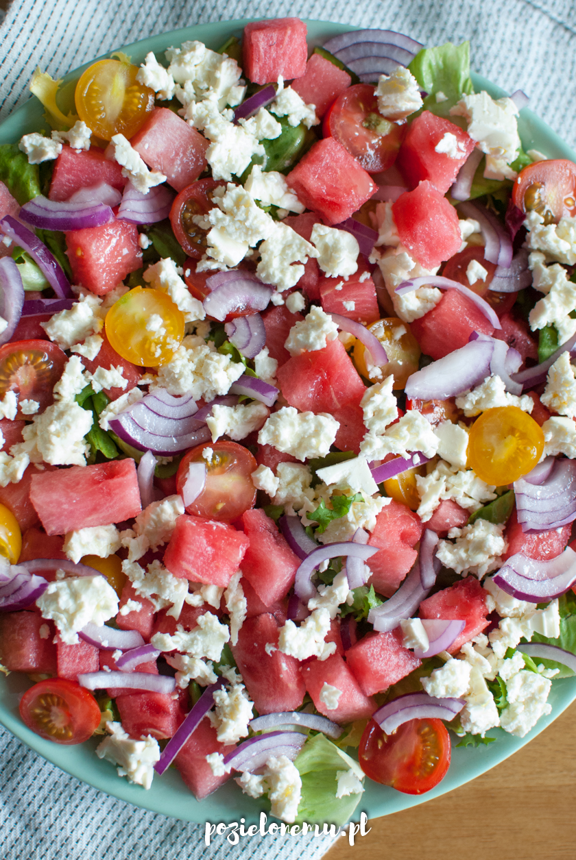 Letnia sałatka z arbuzem i fetą