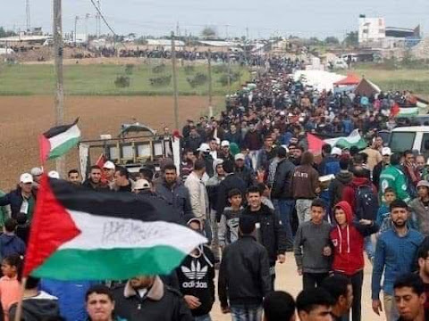 الشعب الاردني على حدود فلسطين