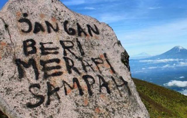 Stop Sampah Dan Vandalisme Di Gunung