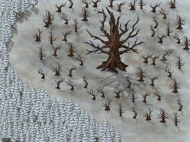 Aventura de Navidad para Dungeons & Dragons - La Frontera del Invierno (2ª Parte) - Árbol Gulthias