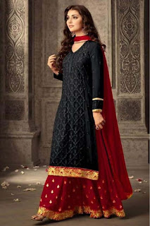 Applique Embroidered Georgette