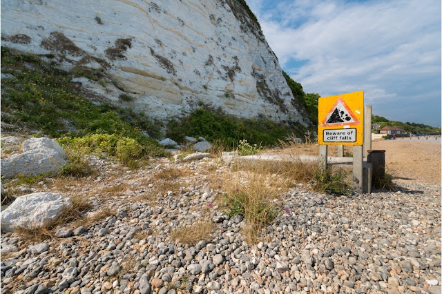 Coastal erosion near Beachy Head, Sussex (Getty)