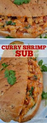 Mouthwatering ! A Curry Shrimp Sub is the perfect Friday night dinner or anytime weekend lunch - even kids love this !