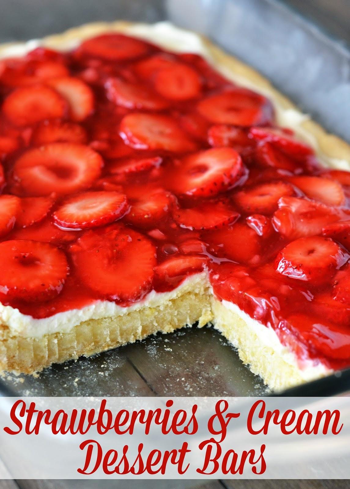 The Country Cook Strawberries Amp Cream Dessert Bars