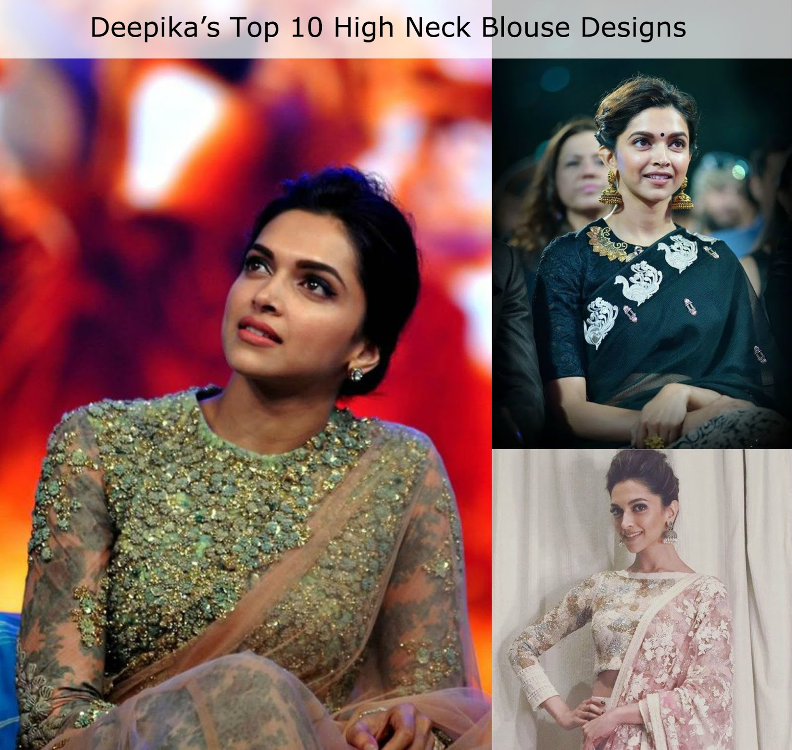 Deepika S Top 10 High Neck Saree Blouse Designs Candy Crow Indian