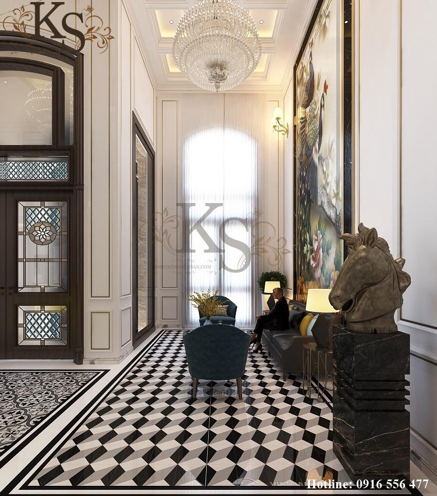 Hình ảnh: Hệ thống đèn chùm trong thiết kế nội thất khách sạn 9 tầng tân cổ điển đậm chất Pháp đến từ châu Âu.