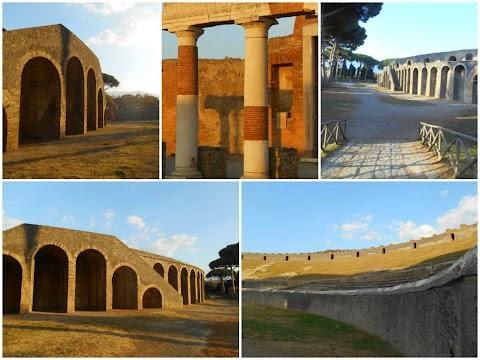 POMPEI - Des ruines et le Vésuve / De souffre et de sang
