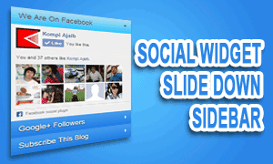 Social Slide Down Widget