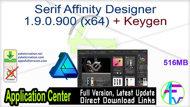 Serif Affinity Designer 1.9.0.900 (x64) + Keygen